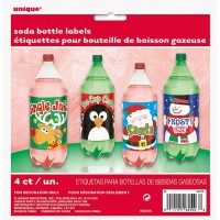 Christmas Soda Bottle Lables 4CT