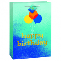 Jumbo - Blue Ombre Happy Birthday - Glossy Gift Bag