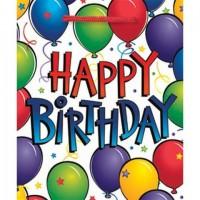 X Jumbo - Bright Balloons & Dots Glossy Gift Bag