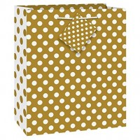 Gold Dots Medium Gift Bag - (12 Gift Bags, €0.49each)