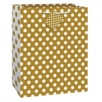 Gold Dots Gift Bag Large