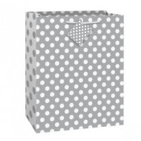 Silver Dots Gift Bag Large