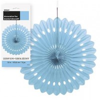 Decorative Fans 16'' 1CT.  Powder Blue