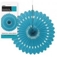 Decorative Fans 16'' 1CT. Caribbean Teal