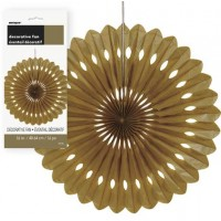 "Decorative Fans 16"" Gold 1CT."