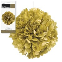 "Puff Decor 16"" Gold 1CT."