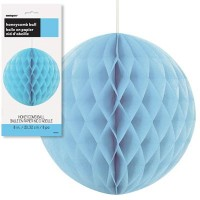 Honeycomb Balls 8'' 1CT. Powder Blue
