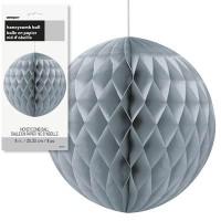 Honeycomb Balls 8'' 1CT. Silver