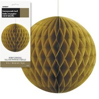 """Honeycomb Balls 8"""" Gold 1CT."""
