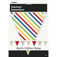 Bold Dot Stripe Paper Flag Banner Bunting - 12ft.