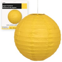 Paper Lanterns 10'' 1CT. Yellow