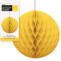 Honeycomb Balls 8'' 1CT. Yellow