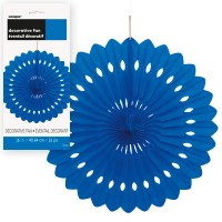 Decorative Fans 16'' 1CT. Royal Blue