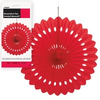 Decorative Fans 16'' 1CT. Red