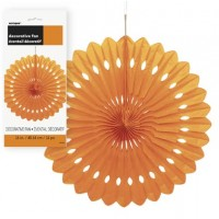 "Decorative Fans 16"" Orange1CT."