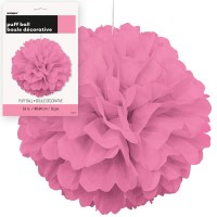 Puff Decor 16'' 1CT. Hot Pink