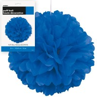 Puff Decor 16'' 1CT. Royal Blue