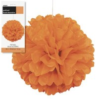 "Puff Decor 16"" Orange1CT."