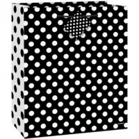 Midnight Black Dots Gift Bag Large