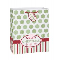 Gold and Red Christmas Gift Bag Large