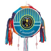 Communion - Blue Drum Pull Pop-Out Piñata