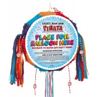 Piñata Blank - Primary Colours Drum Pull Pop-Out Piñata