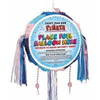 Piñata Blank - Pastel Colours Drum Pull Pop-Out Piñata