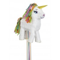 Unicorn Pinata - White