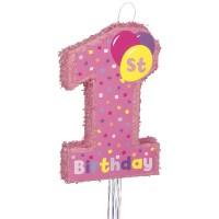 1st Birthday Pink Pinata