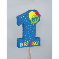 1st Birthday Blue Pinata