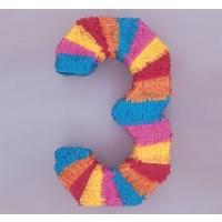 NUmeral 3 Piñata