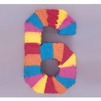 Numeral 6 Pinata