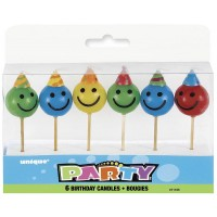 "Face Pick Birthday Candles 3.25"" H 6CT."