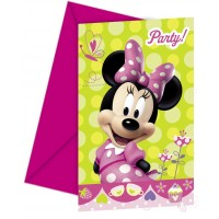 Minnie Bow-Tique Invitations & Envelopes 6CT