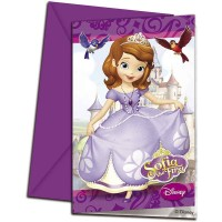 Sofia the First Invitations & Envelopes 6CT.
