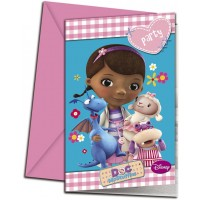 Doc McStuffins Invitations & Envelopes 6CT.