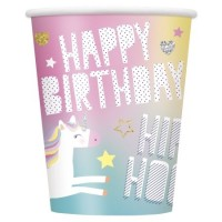 Unicorn Party Cups 9oz 8ct
