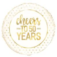 "50th Anniversary x5 18"" Foil Balloons"