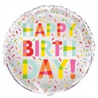 "Happy Birthday - Donut Party - 18"" Foil Balloon"