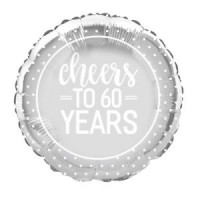 "60th Anniversary - 18"" Foil Balloon"