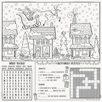 Christmas Colouring Playmats 8ct