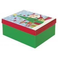 Santa and Rudolph Gift Box Medium Size