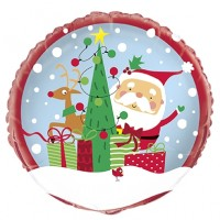 "Santa and Rudolph 18"" Foil Balloon"