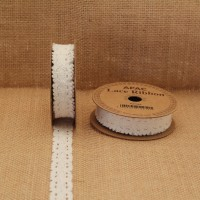 Light Cream Lace Ribbon (18mm x 3yds)