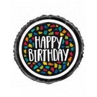 "Colourful Mosaic Birthday 18"" Foil Balloon"