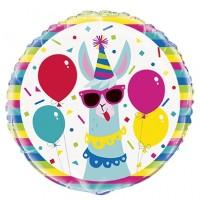 """Colourful Lama 18"""" Foil Balloon"""