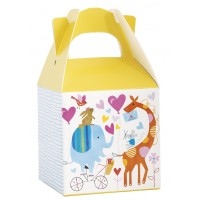 "Zoo Baby Favor Boxes 3"" X 3"" 8ct"
