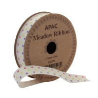 Meadow Ribbon Pink, Yellow & Lilac (17mm x 5m)