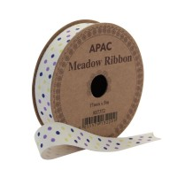 Meadow Ribbon Lilac, Navy & Yellow (17mm x 5m)