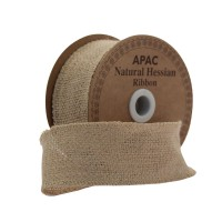 Natural Hessian Ribbon (50mm x 10yds)